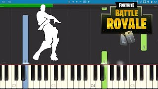 Fortnite Orange Justice - Piano Tutorial - Dance Emote Orange Shirt Kid
