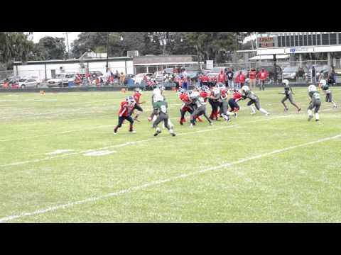 PEWEE FOOTBALL NEW ORLEANS 11/12 WESTWEGO WARRIORS VS GREATNA 09/26/15