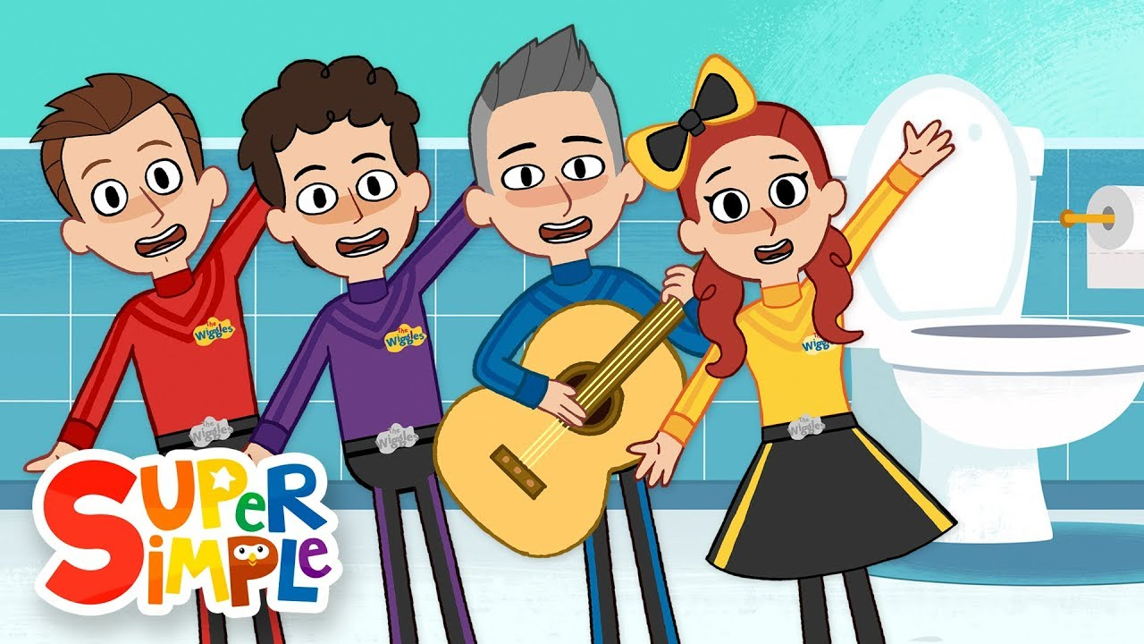 The Toilet Song by The Wiggles   Animation by Super Simple Songs