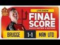 Goldbridge Club Brugge 1-1 Manchester United Match Reaction