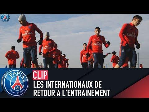 LES INTERNATIONAUX DE RETOUR A L'ENTRAINEMENT
