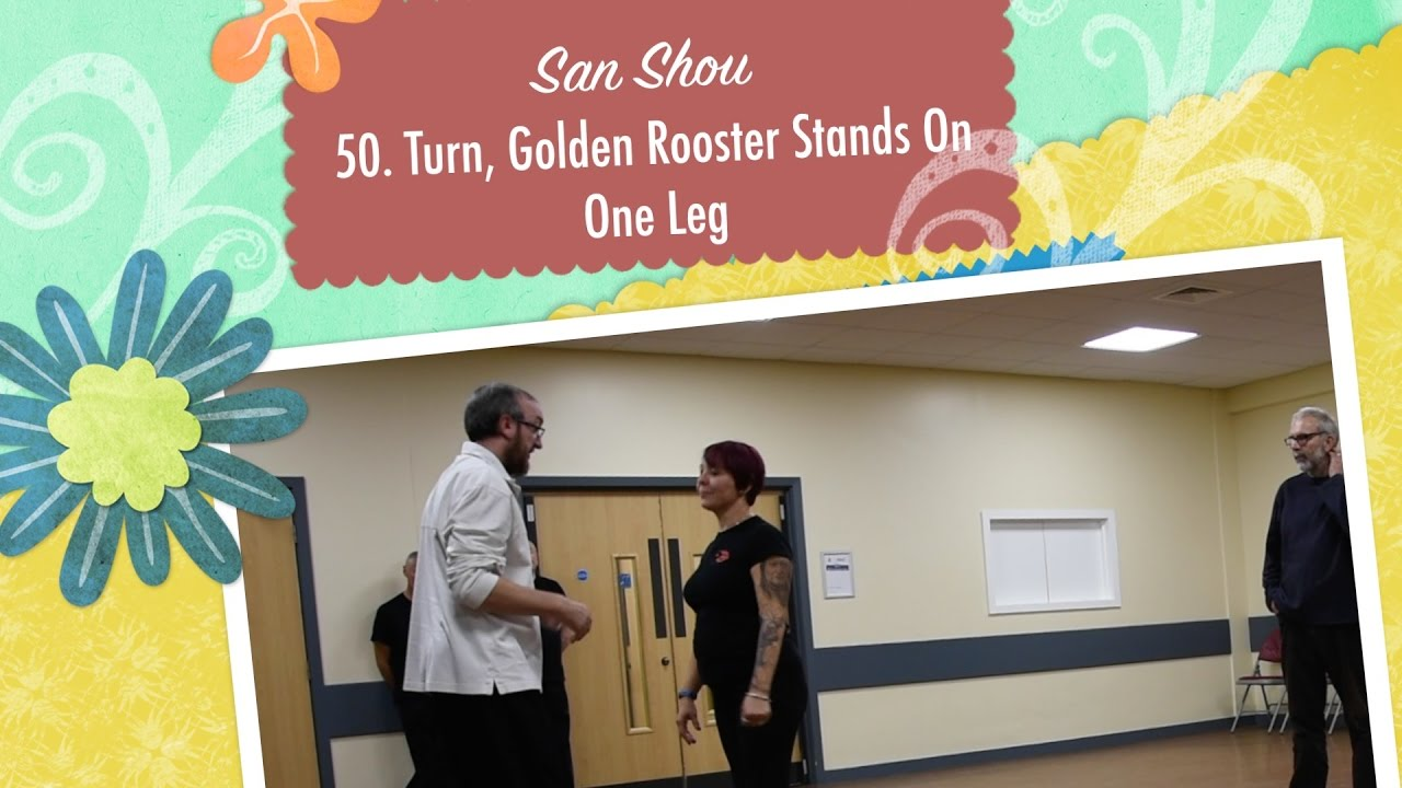 Exercise Golden Rooster is on one leg - REJUVENATION of the body 33