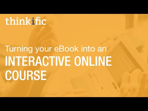 Turning your eBook into an Interactive Online Course