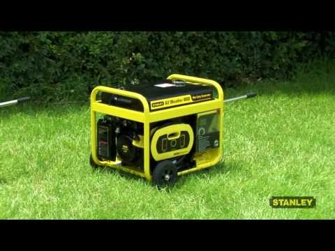 Stanley 8000 Watt, 10,000 Watt Surge All Weather Electric Start Generator with 18 Hour Run time