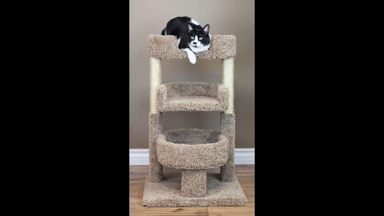 New Cat Condos Round 33 Inch Triple Perch