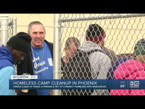 Homeless camp cleanup in Phoenix draws mixed reaction