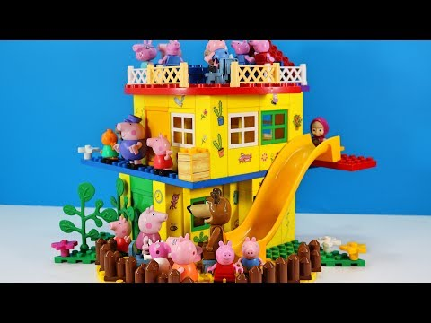 Thumbnail: Peppa Pig Blocks Mega House LEGO Creations Sets With Masha And The Bear Legos Toys For Kids #33