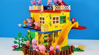 Peppa Pig Blocks Mega House LEGO Creations Sets With Masha And The Bear Legos Toys For Kids #33