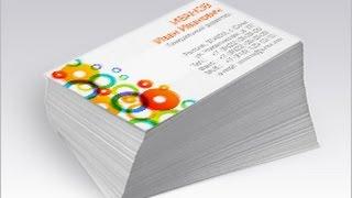 Как сделать визитку. Располагаем визитки на бумаге А4. Видеоурок №5