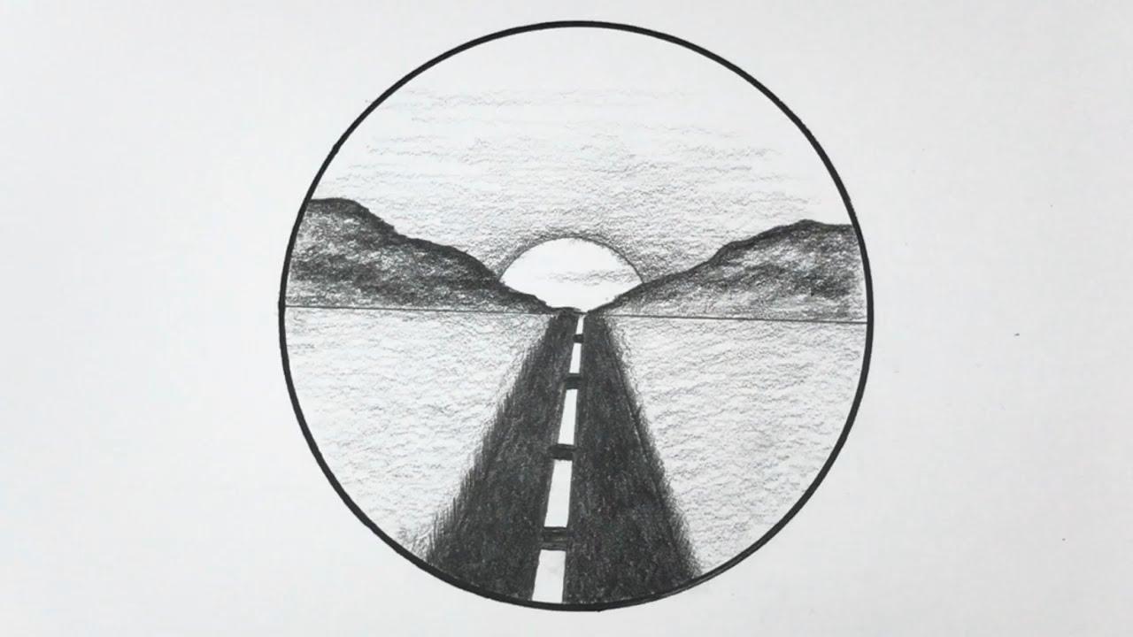 Cách VẼ TRANH PHONG CẢNH bằng BÚT CHÌ | How to draw easy scenery with pencil | Tổng quát những thông tin nói về vẽ tranh phong cảnh bằng bút chì đúng nhất