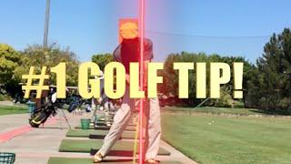 #1 GOLF TIP HEAD BEHIND THE BALL