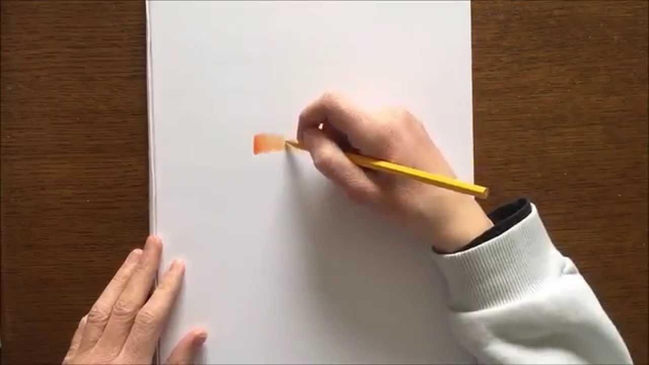 Comment Dessiner Un Degrader Aux Crayons De Couleur Youtube