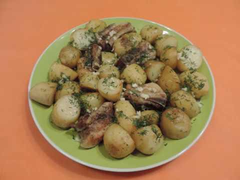 МОЛОДОЙ   Картофель  с  Мясом в духовке. ГОТОВИМ ДОМА - Кулинарный клуб.