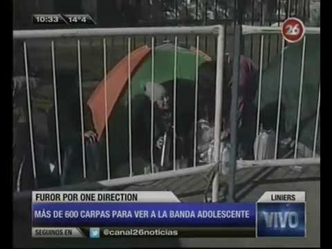 Canal 26 -One Direction: fans acampan en Vélez antes de los shows
