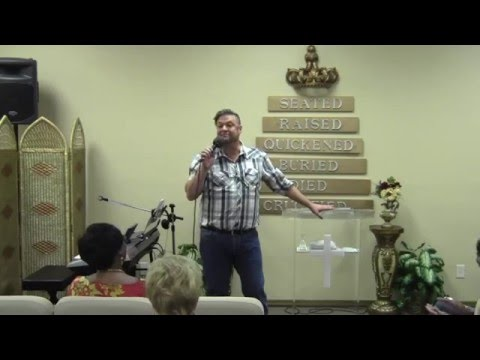 Pastor Lynn Garner at Restoration Christian Ministries 2015-11-06