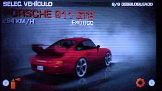 Need For Speed The Run 3DS garage ALL CARS