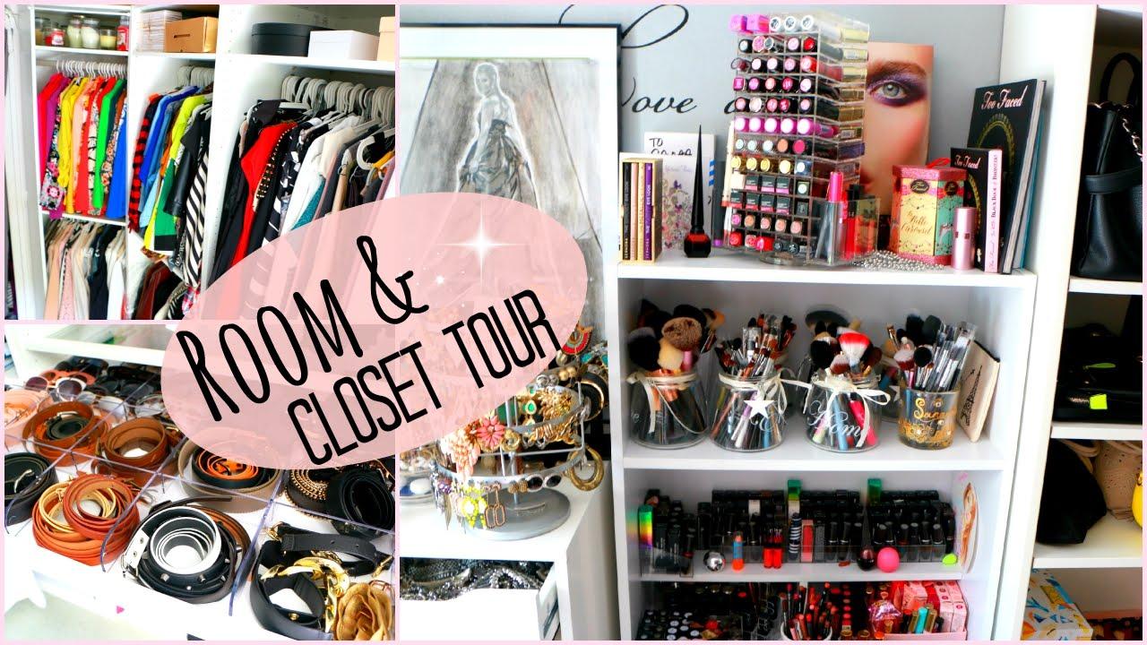 big room closet tour rangement make up 2015 youtube. Black Bedroom Furniture Sets. Home Design Ideas