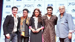 Arjun Kapoor, Sonakshi Sinha, Manoj Bajpai At Trailer Launch Of Movie Tevar