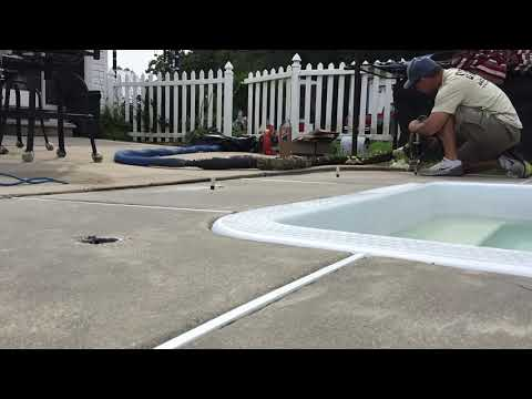 Leveling a concrete pool deck