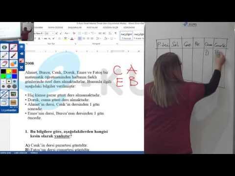 E-KURS DGS - Sözel Mantık - Akıl Yürütme / Hatice Cabir