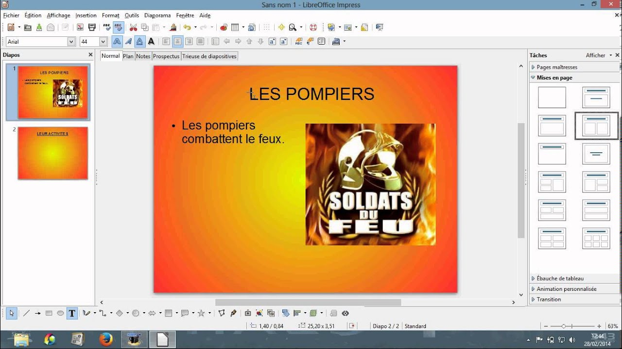 Tuto comment faire un diaporama avec libre office fr - Comment faire une brochure sur open office ...