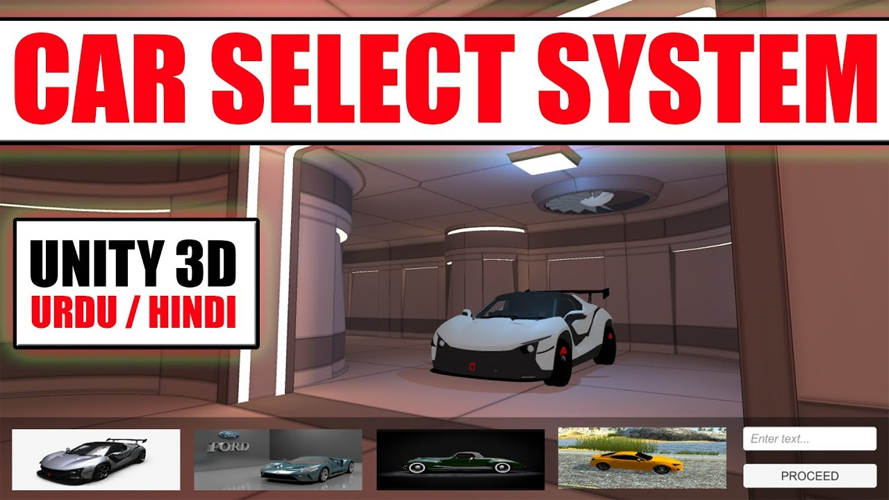 Car Selection Menu | How To Make Dynamic Car Select Menu | Character  Selection And changing scene