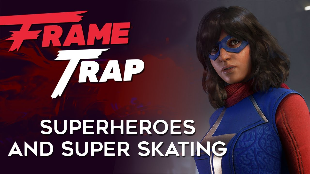 """Frame Trap - Episode 115 """"Superheroes and Super Skating"""" - Ben, Brad, and Huber don their metaphorical capes and dive into deep discussions of Marvel's Avengers, Tony Hawk's Pro Skater 1 + 2, and Kingdoms of Amalur: Re-"""