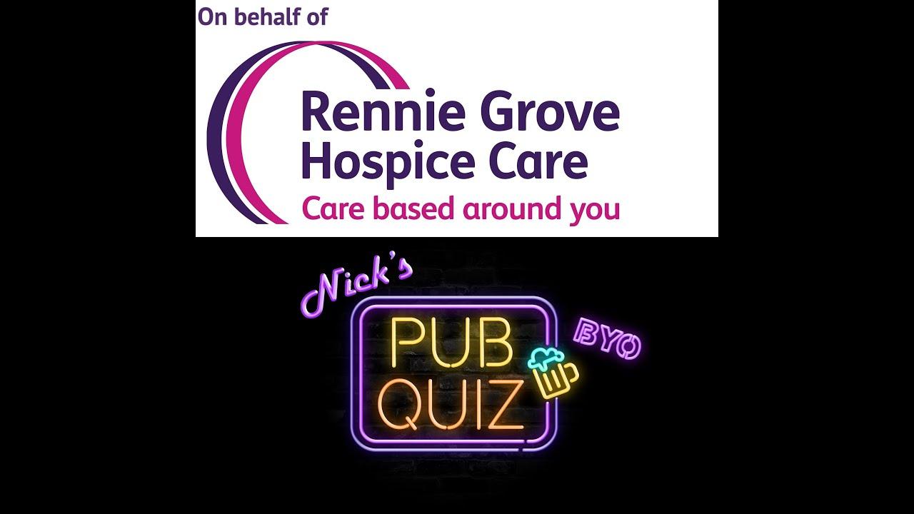 #NicksPubQuiz S2 Ep 5 - Rennie Grove Fundraiser