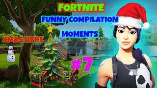 FORTNITE Funny compilation moments #7 xmas hype