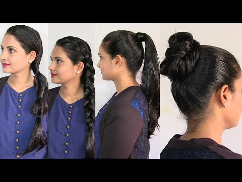 Easy And Simple Hairstyles In Oily Hair   Oiled Hair Hairstyle