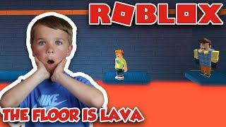 THE FLOOR IS LAVA à ROBLOX HELLO NEIGHBOR HOUSE