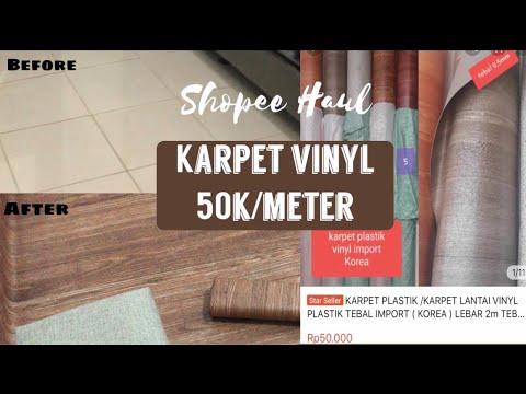 review & pemasangan karpet vinyl kayu ala korea   shopee