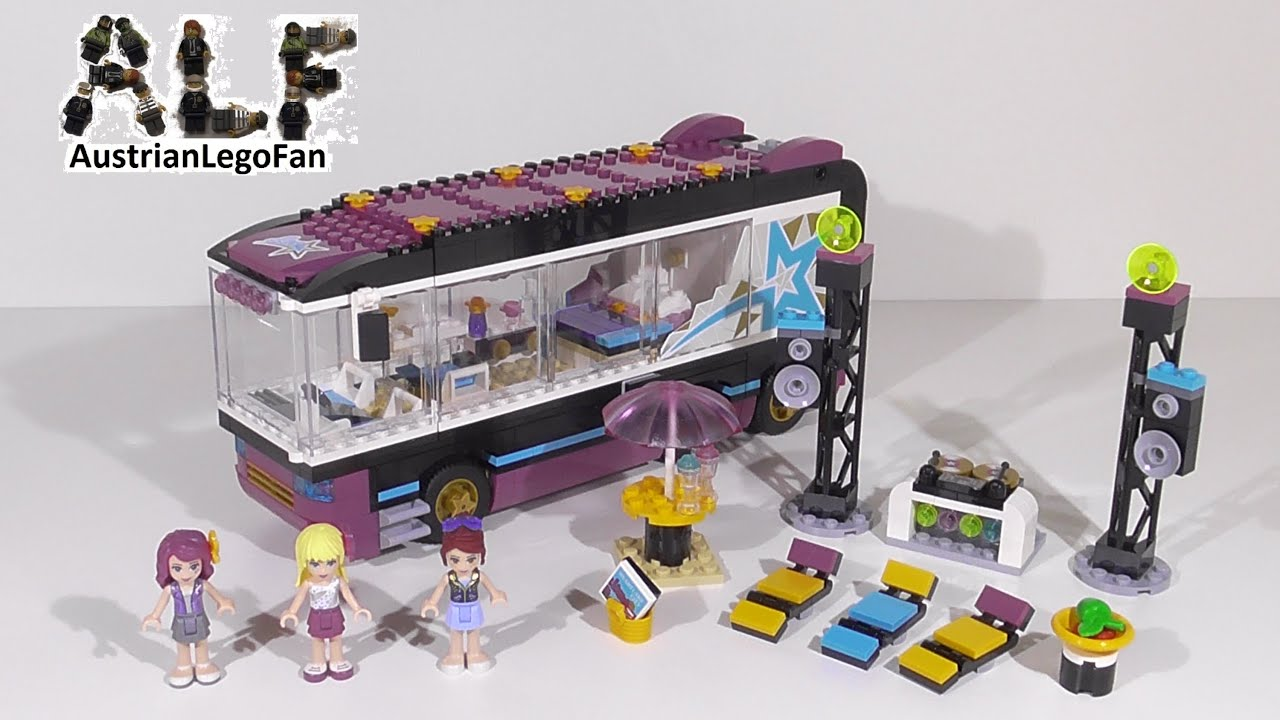 Lego Friends Badezimmer Lego Friends 41106 Pop Star Tour Bus Lego Speed Build Review