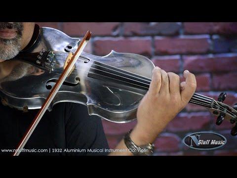 1932 Aluminum Musical Instruments Co. Violin   N Stuff Music