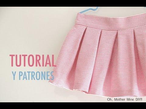 c26bbb7d4 Costura y patrones: Falda de tablas para niñas (patrones gratis ...