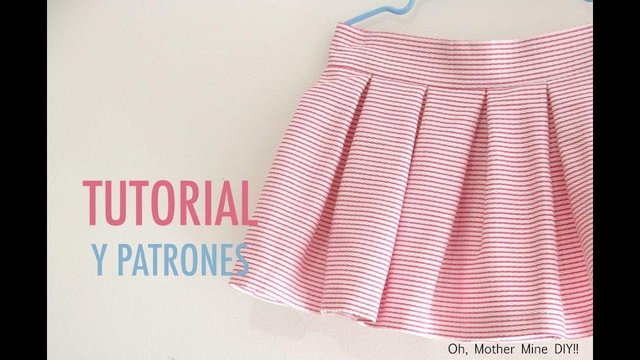 56e4fbd87 Costura y patrones: Falda de tablas para niñas (patrones gratis hasta talla  7 años)