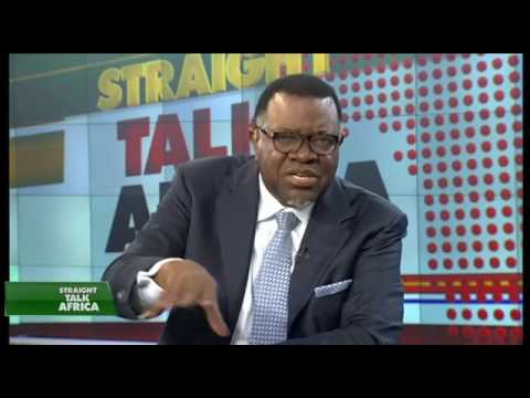 Namibian President Hage Geingob  on Straight Talk Africa