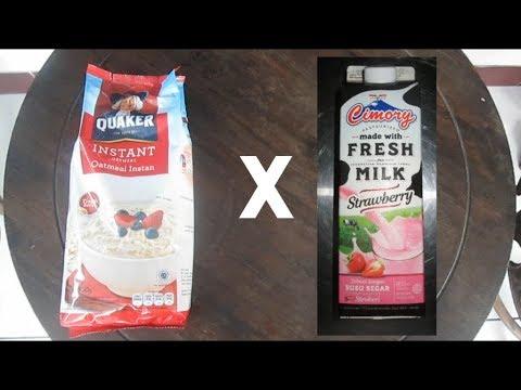 [43] OATMEAL X CIMORY Fresh Milk Strawberry