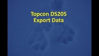 4 Topcon/Magnet, Export Data