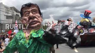 Philippines: Protesters march against martial law ahead of State of the Nation address