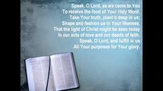 Speak, O Lord {with lyrics} - //Keith & Kristyn Getty, Stuart Townend\\