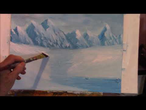 How do you paint  Realistic snow?   Easy Step by Step Acrylic Painting for Beginners Part 2