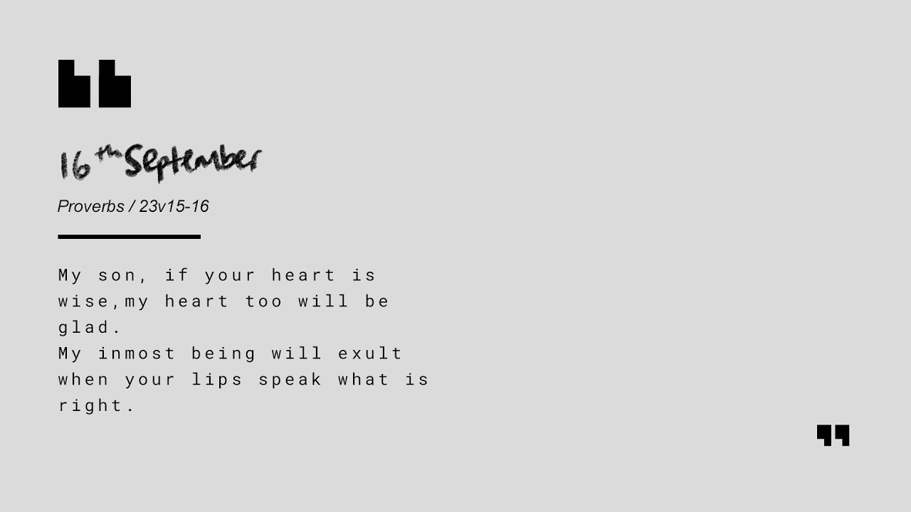 Daily Devotion with Matt Carvel // Proverbs 23:15-16 Cover Image
