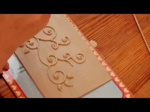Töpfer-Werkstatt: Schlicker-Dekoration / pottery: how to apply slip decoration