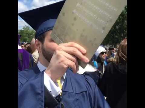 Zayd Bushnaq , commencement ,George Washington University . 2016