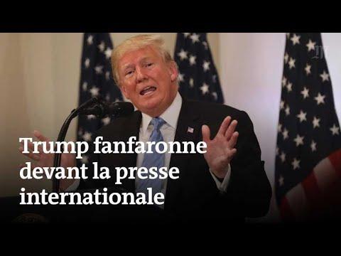 A l'ONU, Trump fanfaronne devant la presse internationale