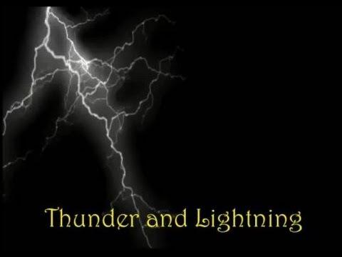 THUNDER AND LIGHTNING - kids song - Lyrics Video  The Kazooks