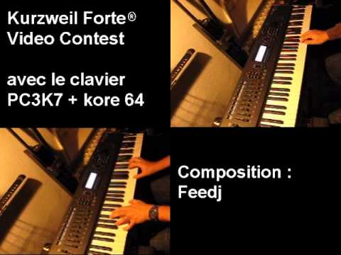 Feedj - composition : synthé, violons, piano, basse - Kurzweil Forte Video Contest