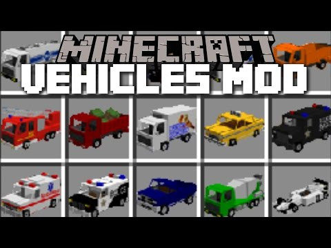 Minecraft Extreme Vehicles Mod Drive Around In Swat Cars And Fire Engines Minecraft