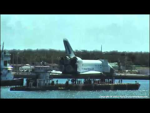 Space Shuttle Leaves Port Canaveral By Sea - 5/24/2012